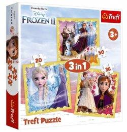 Ledové království 2 - Síla Anny a Elsy: Puzzle 3v1
