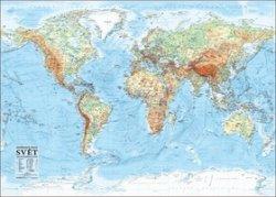 Svět – nástěnná obecně zeměpisná mapa 1 : 21 000 000