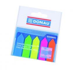 Samolepící plastové záložky tvar šipka 12 x 45 mm - neonových barev