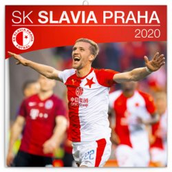 Kalendář poznámkový 2020 - SK Slavia Praha, 30 × 30 cm