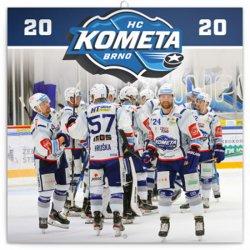Kalendář poznámkový 2020 - HC Kometa Brno, 30 × 30 cm