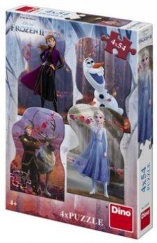 Ledové království II - puzzle 4 x 54 dílků