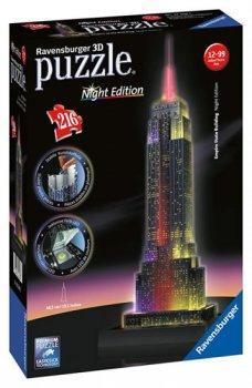 Puzzle noční edice 3D - Empire State Building 216 dílků