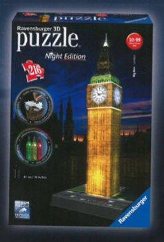 Puzzle noční edice 3D - Big Ben 216 dílků