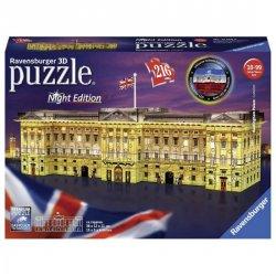 Puzzle noční edice 3D - Buckinghamský palác 216 dílků