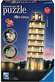 Puzzle noční edice 3D - Šikmá věž v Pise 216 dílků