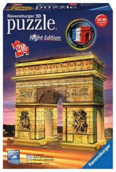 Puzzle noční edice 3D - Vítězný oblouk 216 dílků
