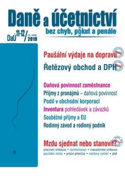 Daně a účetnictví 11-12/2019 Paušální výdaje na dopravu , Řetězový obchod a DPH