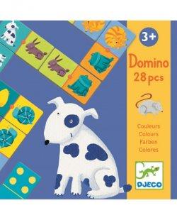 Djeco Domino Barevná zvířátka
