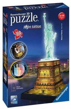 Puzzle noční edice 3D - Socha Svobody 108 dílků