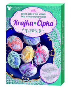 Sada k dekorování vajíček/krajka
