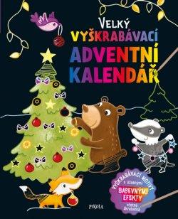 Velký vyškrabávací adventní kalendář