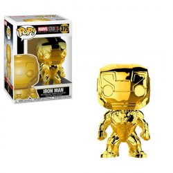 Funko POP Bobble Marvel: MS 10: Iron Man (Chrome)