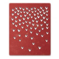 SIZZIX Thinlits vyřezávací kovové šablony - Padající srdce 4 ks
