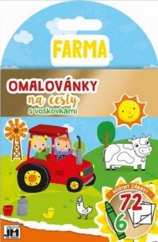 Omalovánky na cesty s voskovkami Farma
