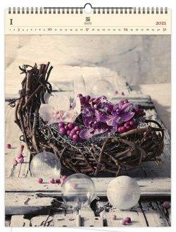 Kalendář 2021 dřevěný: Design, 450x590