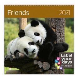 Kalendář 2021 nástěnný: Friends, 300x300