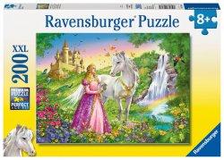 Puzzle Princezna s koněm/200 dílků