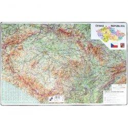 Podložka na stůl 60 × 40 cm - mapa ČR + Evropa