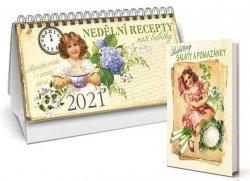 Kalendář 2021 - Nedělní recepty naší babičky + Babiččiny saláty a pomazánky