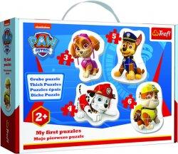 Baby puzzle Tlapková patrola 4v1 (3,4,5,6 dílků)