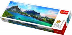 Panoramatické puzzle Lofoty, Norsko/500 dílků