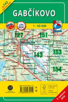 Gabčíkovo 1 : 50 000