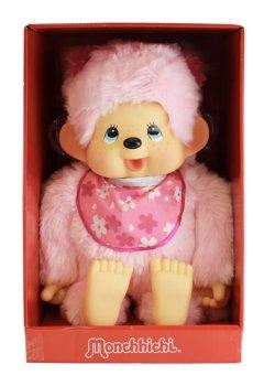 Monchhichi 80cm - růžová holka