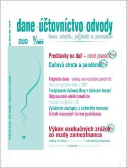 DUO 9/2020 – Zmeny v daniach, účtovníctve a odpisovaní ako dôsledok pandémie