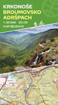 Krkonoše, Broumovsko, Adršpach (20 I 29)- oboustranná turistická mapa 1:50 000