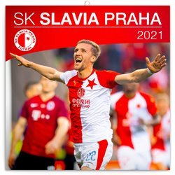 Kalednář 2021 poznámkový: SK Slavia Praha, 30 x 30 cm