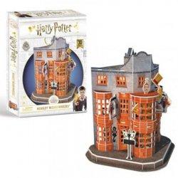 Harry Potter 3D puzzle Příčná ulice Weasleyho kouzelnické kejkle - 78 dílků