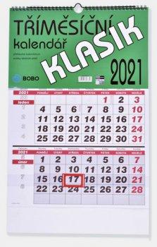 Tříměsíční kalendář 2021 Klasik - nástěnný kalendář
