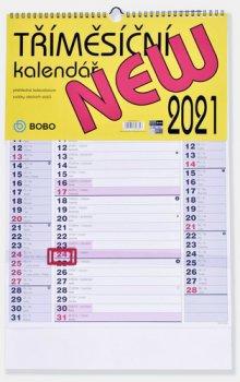 Tříměsíční kalendář 2021 New - nástěnný kalendář