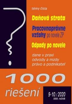 1000 riešení 9-10/2020  – Daňová strata, Odpady po novele, Pracovnoprávne vzťahy