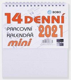 BOBO Kalendář 2021: Pracovní mini 14-denní stolní