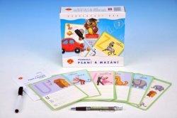 Písmena Psaní a mazání 1 - vzdělávací didaktická hra v krabici