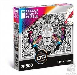 Clementoni Puzzle 3D Colour therapy Lev / 500 dílků