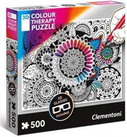 Clementoni Puzzle 3D Colour therapy Mandala / 500 dílků