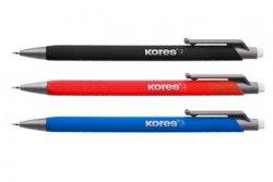 Mikrotužka M2-OFFICE 0,5 mm, soft povrch, mix barev (černá, červená, modrá) 1ks + náhradní tuhy
