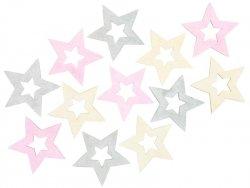 Hvězdy dřevěné 4 cm (12 ks)