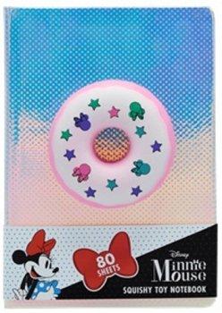 Notebook se squishy hračkou Donut