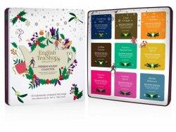 English Tea Shop Prémiová dárková plechová kazeta s bio čaji bílá 108 g,72 ks
