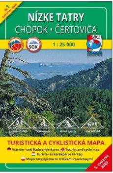 Nízke Tatry Chopok - Čertovica 1:25 000