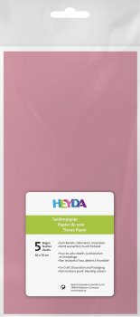 HEYDA Hedvábný papír 50 x 70 cm - růžový 5 ks