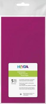 HEYDA Hedvábný papír 50 x 70 cm - sytě růžový 5 ks