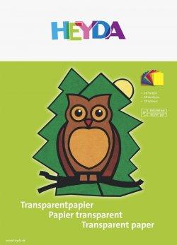 HEYDA Blok transparentních papírů - sova 10 listů