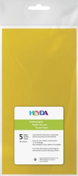 HEYDA Hedvábný papír 50 x 70 cm - žlutý 5 ks