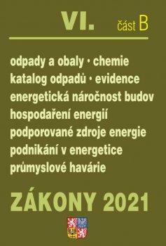 Zákony VIB/2021 Odpady a obaly - Ukončená životnost, Energetická náročnost budov, Hospodaření energií, Podporované zdroje energií, Průmyslové havárie, Chemické látky