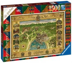 Ravensburger Puzzle - Mapa Bradavic 1500 dílků